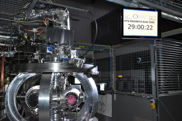 We now hold the world record for running our Tokamak with Magnets of High Temperature Superconductors for 29 hours!