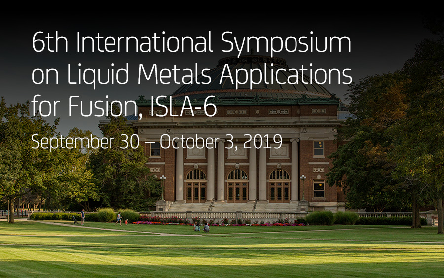 6th International Symposium on Liquid Metals Applications for Fusion